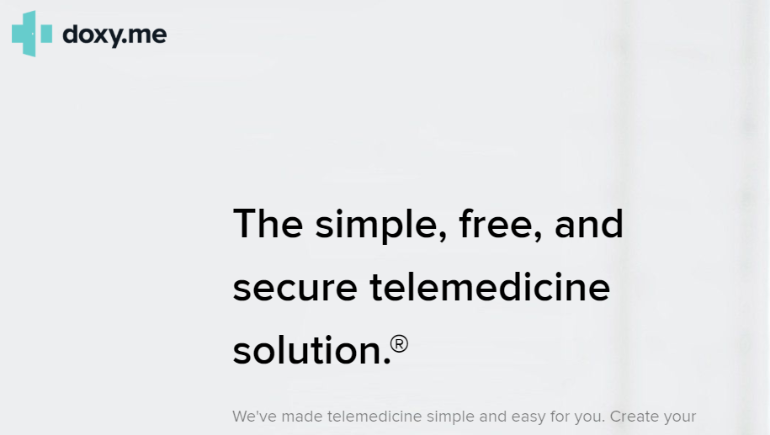 Telehealth visits using DOXY.ME